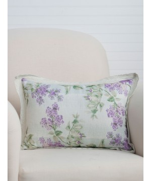 Rosemary Citrus Water Linen Cushion in Lavender by April Cornell