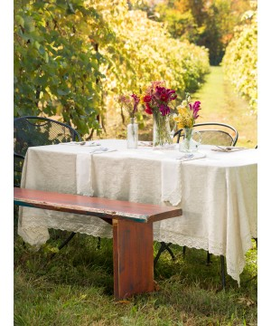 Cupcake Crumb Tablecloth in Linen by April Cornell