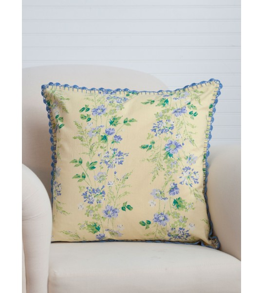 Cornflower Cushion in Yellow by April Cornell