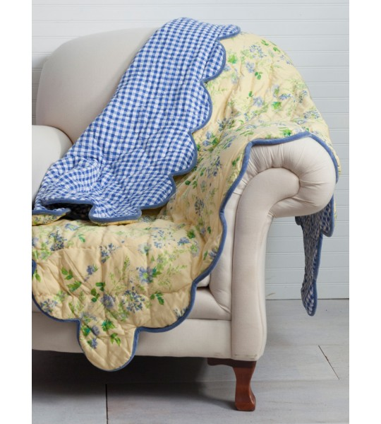 Cornflower Throw in Yellow by April Cornell