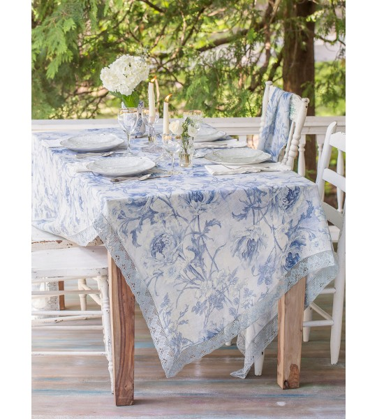 Ladylike Tablecloth in Soft Blue by April Cornell