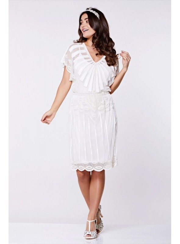 Roaring Twenties Inspired Dress in White