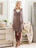 Dahlia Sweater Dress in Brown | April Cornell - SOLD OUT