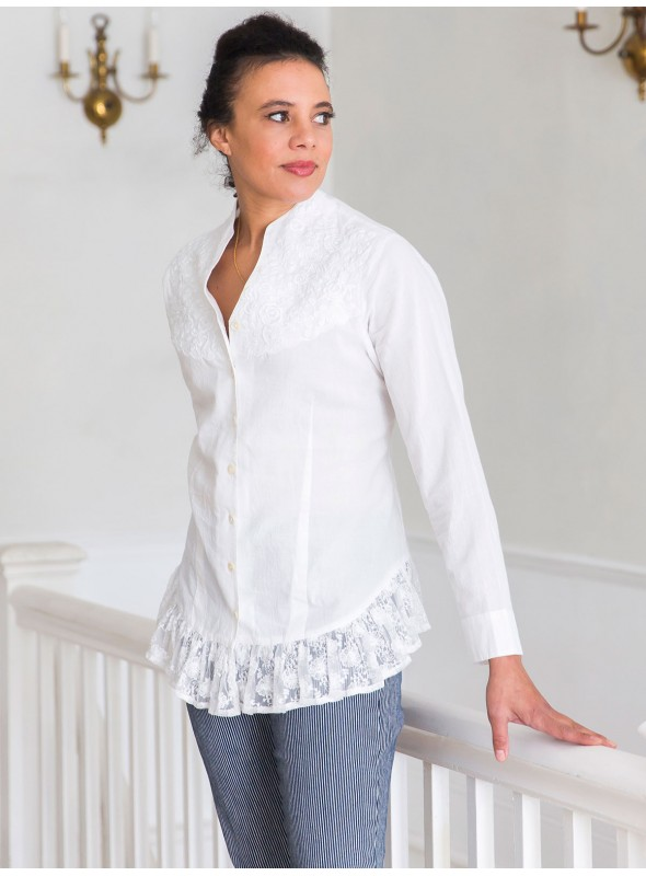 Victorian Blouse in White by April Cornell