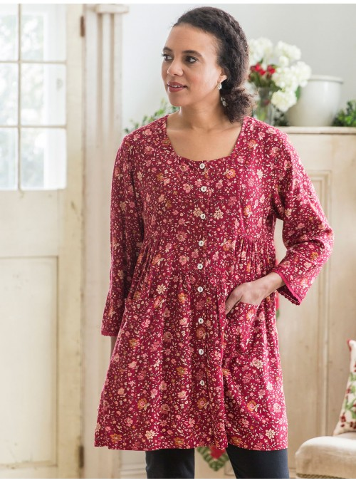 Savannah Tunic in Cranberry by April Cornell