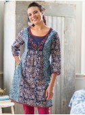 Frieda Tunic in Indigo | April Cornell