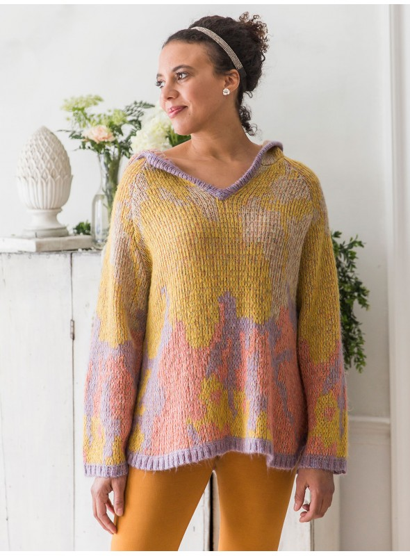 Everly Pullover in Gold Coral by April Cornell