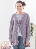 Coquette Cardigan in Orchid | April Cornell