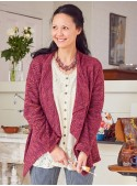 Lillian Cardigan in Plum | April Cornell - SOLD OUT