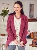 Lillian Cardigan in Plum | April Cornell