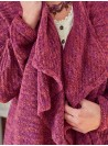 Lillian Cardigan in Plum by April Cornell