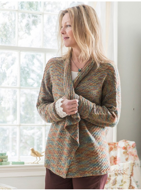 Woodland Cardigan in Green by April Cornell
