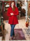 Petal Cardigan in Scarlet by Aprill Cornell