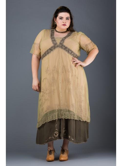 Plus Size Vintage Titanic Dress in Sage by Nataya