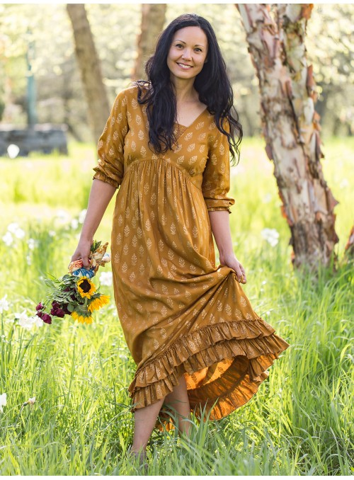 Spirit Dress in Gold by April Cornell